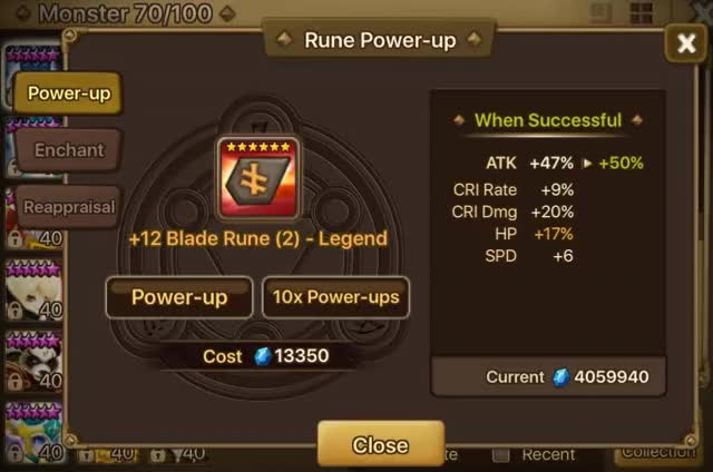 "Watch I am not a big fan of luck posts, but I had to share this ""Once in a SW Life"" rune that just dropped. :3 (reddit) GIF on Gfycat. Discover more summonerswar GIFs on Gfycat"