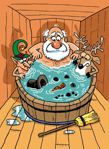 Watch Funny Christmas Invite Frosty Snowman to Hot Tub GIF on Gfycat. Discover more related GIFs on Gfycat