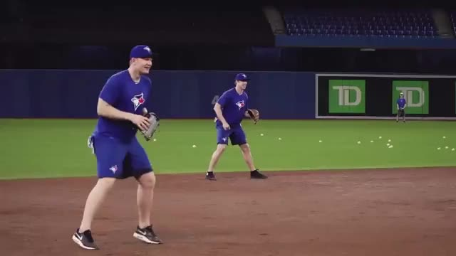 Watch and share Leafs Take BP At The Rogers Centre GIFs on Gfycat