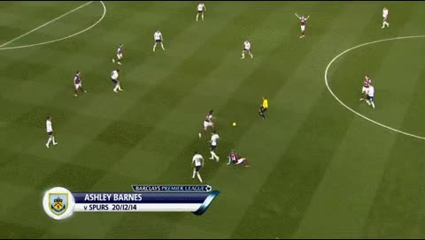 Watch Ashley Barnes. Tottenham - Burnley. 20.12.2014 GIF by @fatalali on Gfycat. Discover more related GIFs on Gfycat