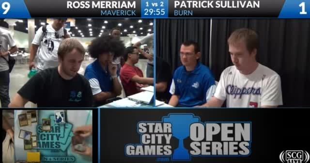 magictcg, A few seconds after the match is over it looks as if Sullivan is shaking wet off his hair like a dog and it hits Merriam in the face. (reddit) GIFs