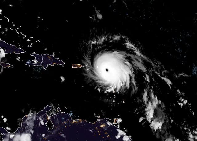 Watch and share Hurricane Irma Passing Over The Caribbean Islands - September 6 And 7, 2017 GIFs by The Watchers on Gfycat
