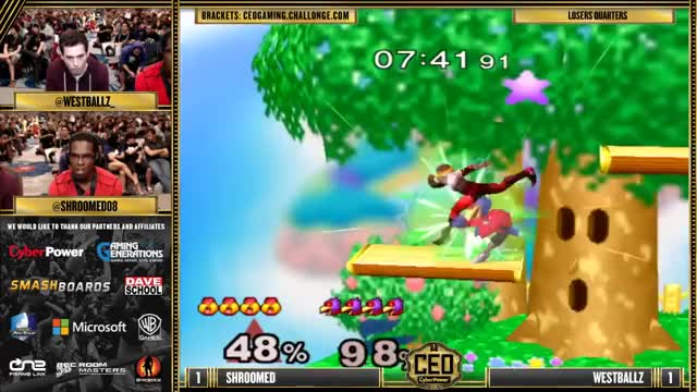 CEO 2015 - Westballz (Falco) Vs. Shroomed (Sheik) SSBM Losers Quarters - Smash Melee