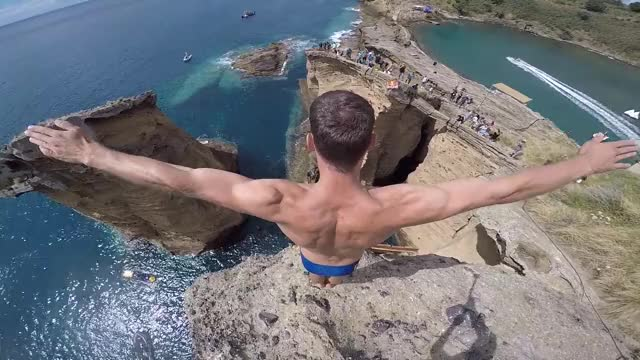 Watch Professional Cliff Diving GIF by LimeLights  (@makeagiffoundation) on Gfycat. Discover more related GIFs on Gfycat