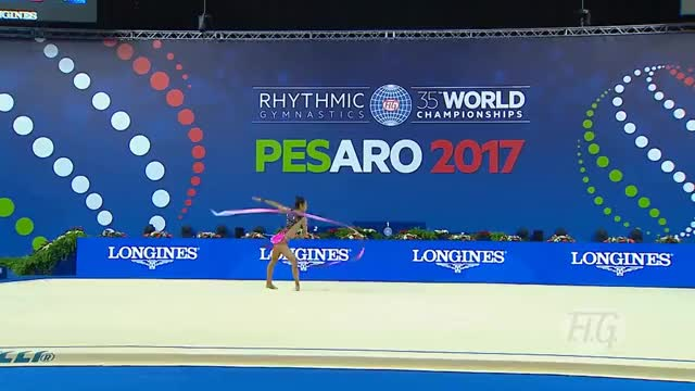 Watch Gymastic - Flexibility GIF on Gfycat. Discover more 2017, All Tags, Fig, GYMNASTICS, Individual, clubs, e14844, lausanne, pesaro, rhythmic, ribbon GIFs on Gfycat