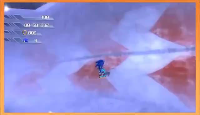 GameGrumps Sonic Snowboard Uphill Battle GIFs