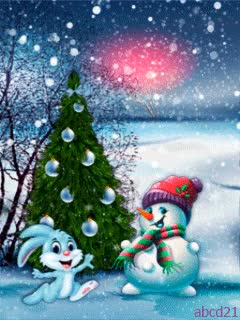 Watch the snowman and Bunny Christmas tree GIF on Gfycat. Discover more related GIFs on Gfycat
