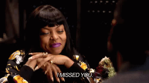 i miss u, i miss you, miss ya, miss you, miss you already, miss you so much, taraji p henson, taraji p. henson,  GIFs