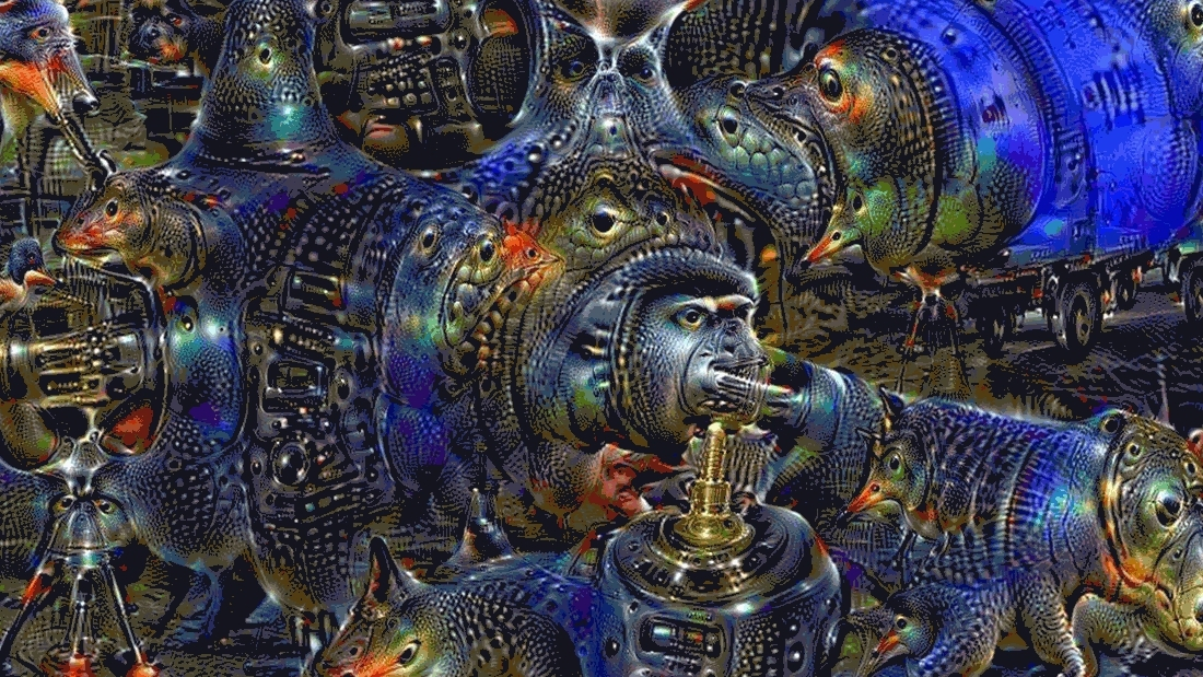 deepdream, The walls are watching... GIFs