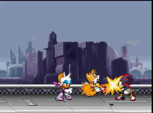 Watch Sonic tails vs. shadow and rouge (remake) GIF on Gfycat. Discover more All Tags, Amy, Rouge, VS, knuckles, remake, shadow, sonic, tails GIFs on Gfycat
