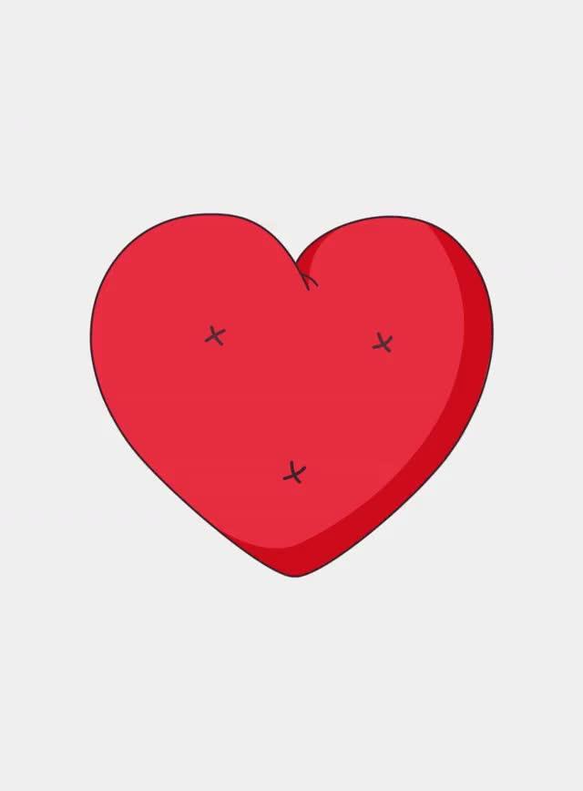 Гифка сердце на прозрачном фоне