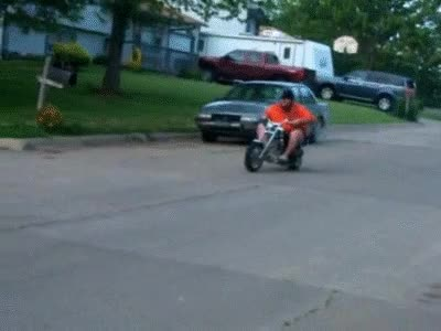 Watch and share Fat Guy On Mini Bike GIFs on Gfycat