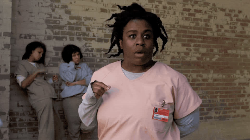 6, black, god, is, my, new, no, oh, omg, orange, prison, scared, season, shock, six, the, unbelievable, way, wow, wtf, Orange is the new black - OMG GIFs
