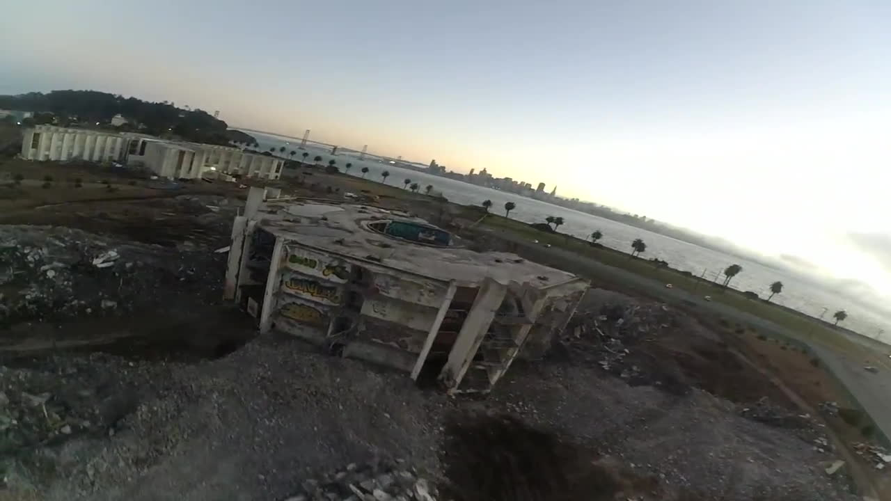 fpv, quadcopter, Remains of Cosson Hall GIFs