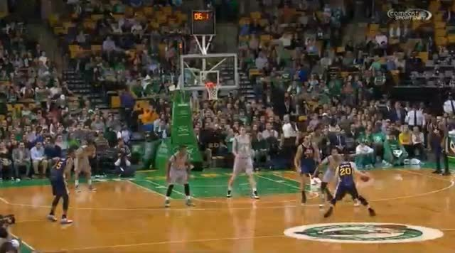 bostonceltics, Marcus Smart makes the steal, finishes the and one to put Celtics ahead against Jazz GIFs
