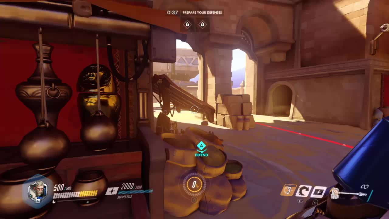 Competitiveoverwatch, Reinhardt's Fire Strike Can Transcend Through Time and Space GIFs