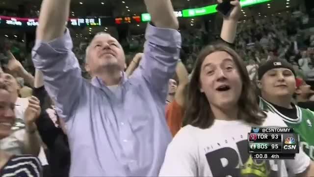 Jae Crowder last-second game-winner: Toronto Raptors at Boston Celtics (reddit)