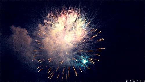 Watch and share Happy New Year Fireworks ANIMATED GIF - SpeakGif GIFs on Gfycat