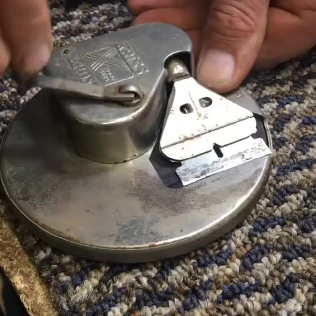 Watch and share Old Razor Blade Sharpener GIFs on Gfycat