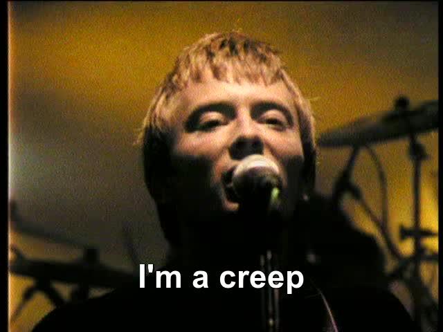 ed o'brien, philip selway, thom yorke, Radiohead - Creep GIFs