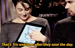 Watch Fangirla GIF on Gfycat. Discover more Dauntless, FOURTRIS, Shailene Woodley, abnegation, alliegant, amity, beatrice prior, books, candor, divergent, erudite, factions, fandom, fangirl, insurgent, shailene and theo, sheo, the divergent series, the divergent trilogy, the mortal instruments, theo james, tobias eaton, tris prior GIFs on Gfycat