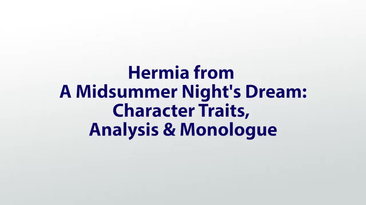 Paywall Hermia From A Midsummer Nights Dream Character Traits Analysis Monologue GIF