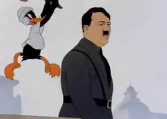 Watch Daffy Duck Vs. Adolf Hitler GIF on Gfycat. Discover more related GIFs on Gfycat