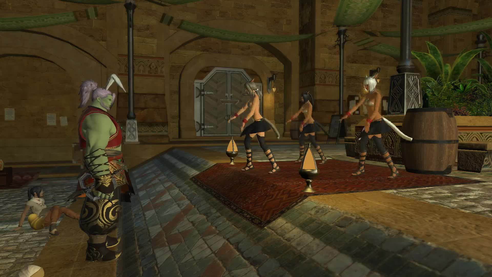 dancers, ffxiv, gil, gratuity, ul'dah, Making it hail in Ul'dah GIFs