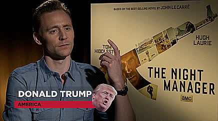 tom hiddleston, Tom  Hiddleston about Donald TrumP .6 |  funny and gif GIFs