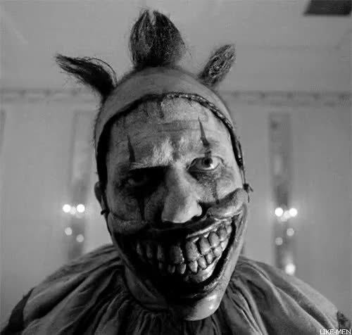 Watch and share Twisty The Clown GIFs and Black And White GIFs on Gfycat