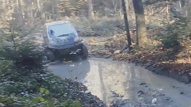 Watch and share This Mud Bogging Smart Car Puts Your Lifted GIFs on Gfycat