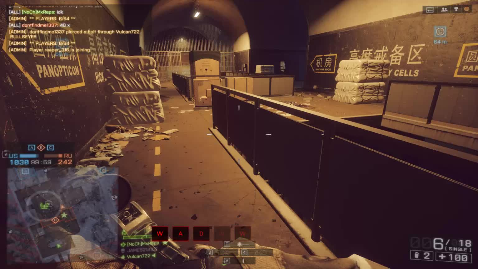 battlefield 4, bf4, canted iron, lockers, mxreps, no scope, 7 KillPerMinute sniping in lockers (3v3) GIFs