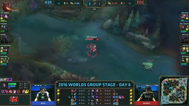 Watch and share H2K Vs EDG Highlights Worlds 2016 D6 H2K Gaming Vs Edward Gaming GIFs on Gfycat