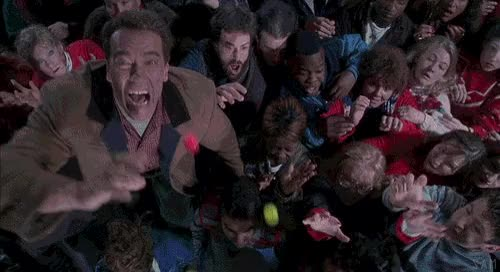 Watch and share Jingle All The Way, Movie, Arnold Schwarzenegger, Jump, Jumping GIFs on Gfycat