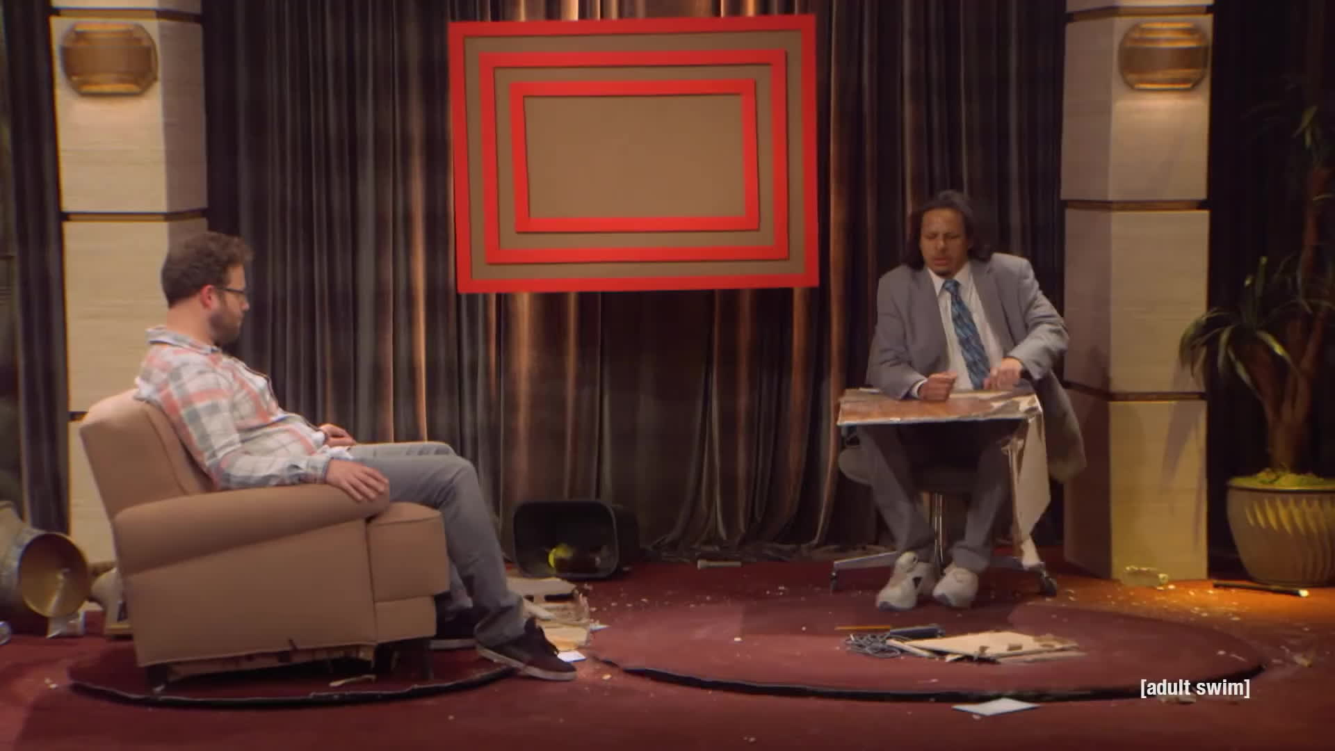 TheEricAndreShow, eric andre show, hannibal buress, Seth Rogen Part 2 | The Eric Andre Show | Adult Swim GIFs