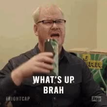 Watch and share Jim Gaffigan GIFs and What's Up GIFs on Gfycat