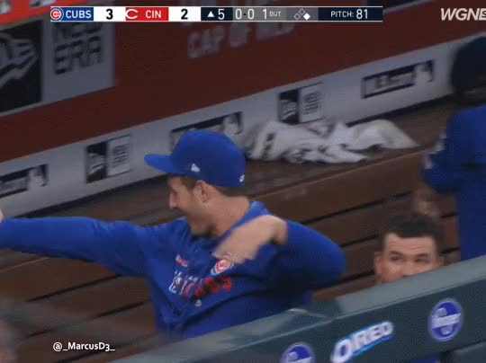 Watch Chicago Cubs dugout reaction GIF by MarcusD (@-marcusd-) on Gfycat. Discover more baseball, chicago cubs, cincinnati reds GIFs on Gfycat