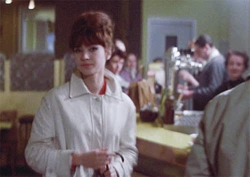 1961, a woman is a woman, anna karina, flirt, wink, Anna Karina Wink GIFs