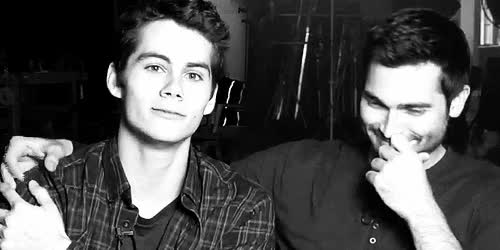 Watch actors boys derek hale Favim com GIF on Gfycat. Discover more Black and White, Dilan O'Brien, Sterek, Stiles, big smile, black, boys, cute, derek, derek hale, gif, gifs, love, my boys, smile, stiles and derek, stiles stilinski, teen wolf, tumblr, tumblr gif, tyler hoechlin GIFs on Gfycat