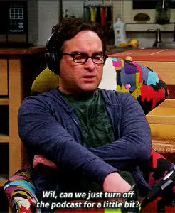 Watch this GIF on Gfycat. Discover more I missed Evil!Wil it was nice to see him back., Leonard Hofstadter, S8, The Big Bang Theory, The Fortification Implementation, Wil Wheaton, gif, tbbtedit GIFs on Gfycat