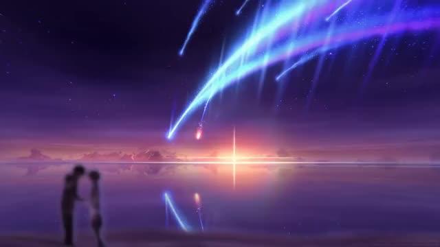 Watch and share VFX Art Scene - Tiamat Comet (Kimi No Na Wa) GIFs on Gfycat