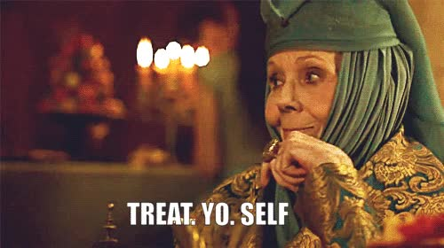 Watch Martin diana rigg treat yo self treat your girl right GIF on Gfycat. Discover more related GIFs on Gfycat