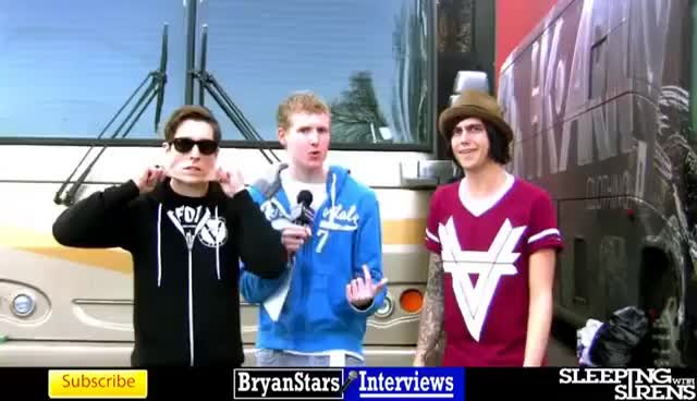Watch sws interview GIF on Gfycat. Discover more bryanstars, justin hills, kellin quinn, sleeping with sirens GIFs on Gfycat