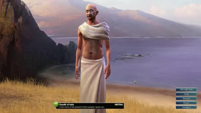 Watch Gandhi GIF on Gfycat. Discover more Civ5, CivV, Civilization, Civilization5, CivilizationV, Gandhi, Leaders, Meier's, Series, Sid GIFs on Gfycat