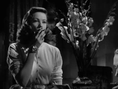 Watch this trending GIF on Gfycat. Discover more 1940s, 20th century fox, cigarettes, classic film, film noir, gene tierney, gif, glamour, laura, my gif, noir, noirvember, nostalgia, old movies, otto preminger, retro, smoking, vintage gif GIFs on Gfycat