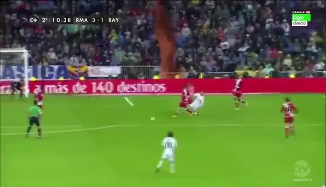 Watch and share Toni Kroos Goal Vs Rayo Vallecano GIFs on Gfycat