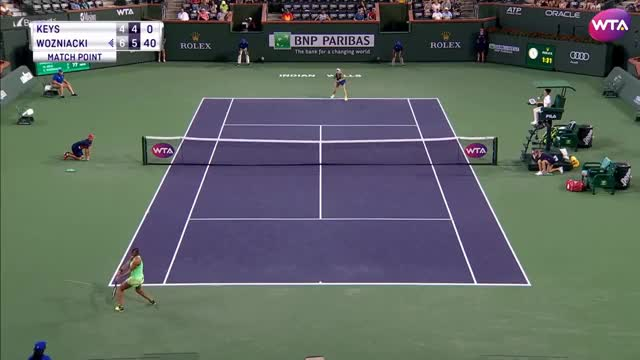 Watch and share 2017 BNP Paribas Open Round Of 16 | Caroline Wozniacki Vs Madison Keys | WTA Highlights GIFs on Gfycat