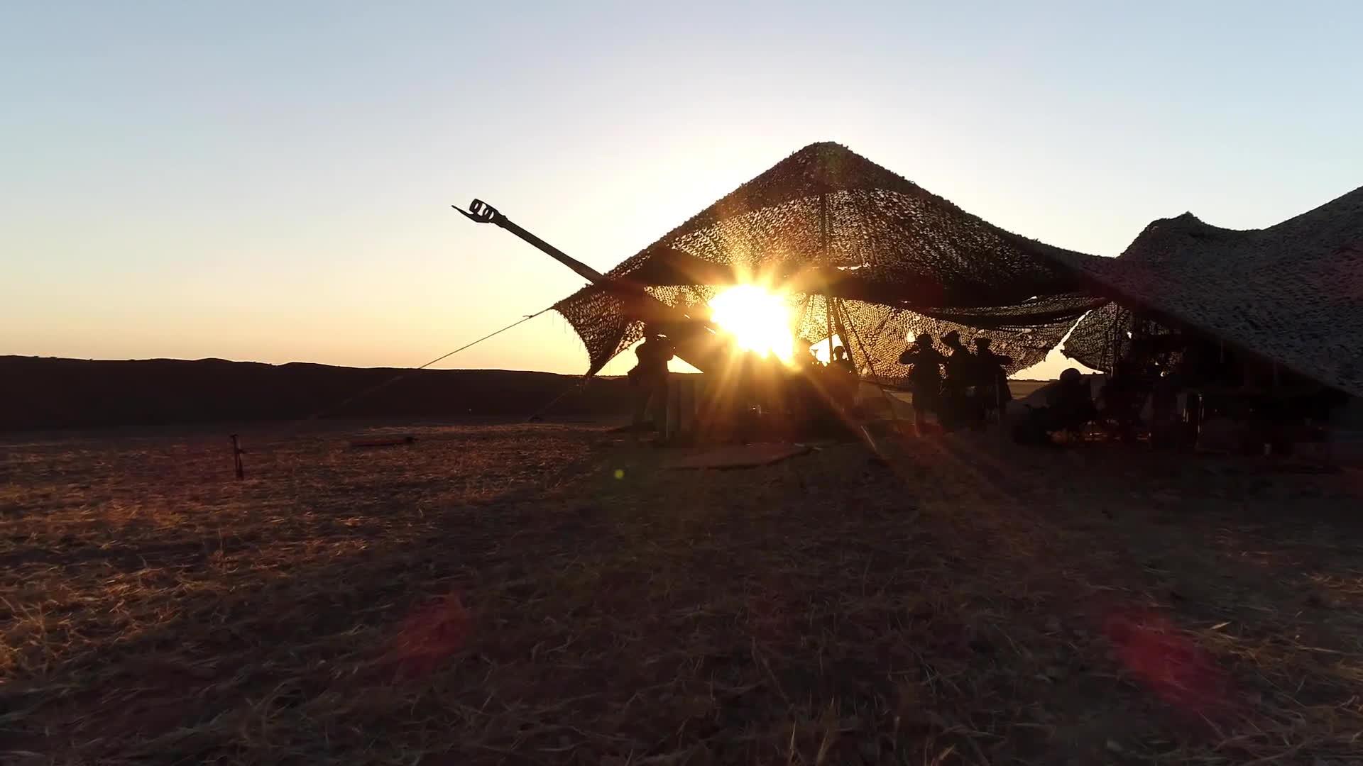 marine corps, marines, usmc, Artillery Marines Rain Steel on ISIS in Syria GIFs