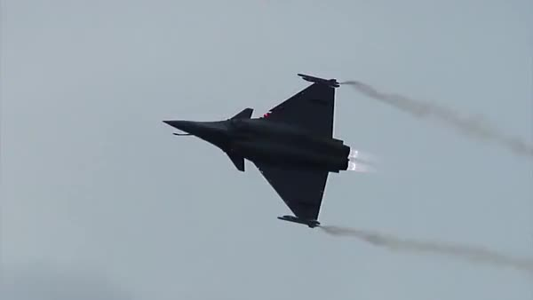Watch and share Rafale - Solo Demo - Sanicole Sunset Airshow (reddit) GIFs on Gfycat