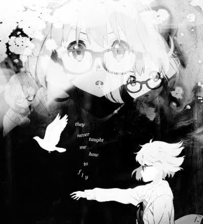 Watch and share Mirai Kuriyama Kyoukai No Kanata Gif GIFs on Gfycat